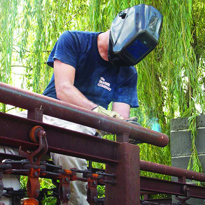 Welding a Gate - gate Maintenance